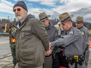 James Cromwell, Protest, Arrest