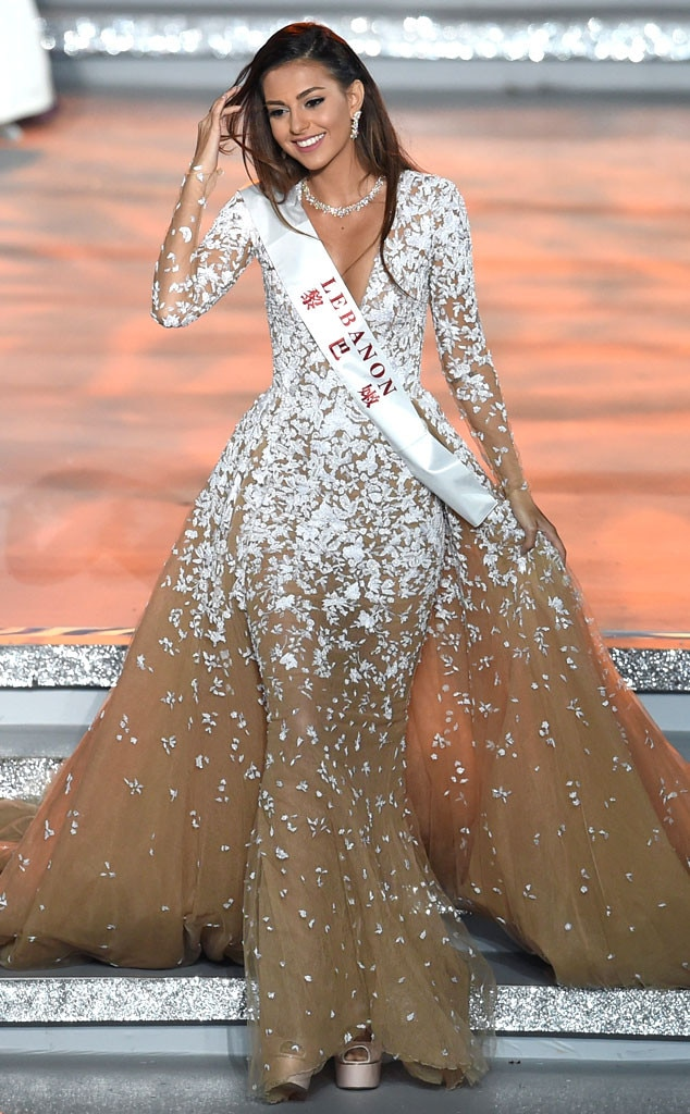 Miss World Lebanon Finalist From Miss World 2015 Winner
