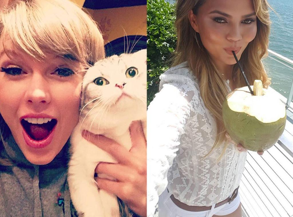 Celebrity Instagrams, Best Of, Chrissy Teigen, Taylor Swift
