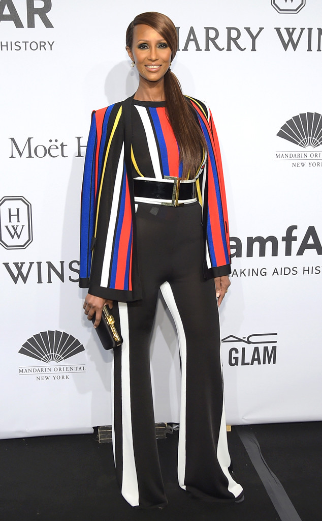 Models, Then and Now, Iman, 2015