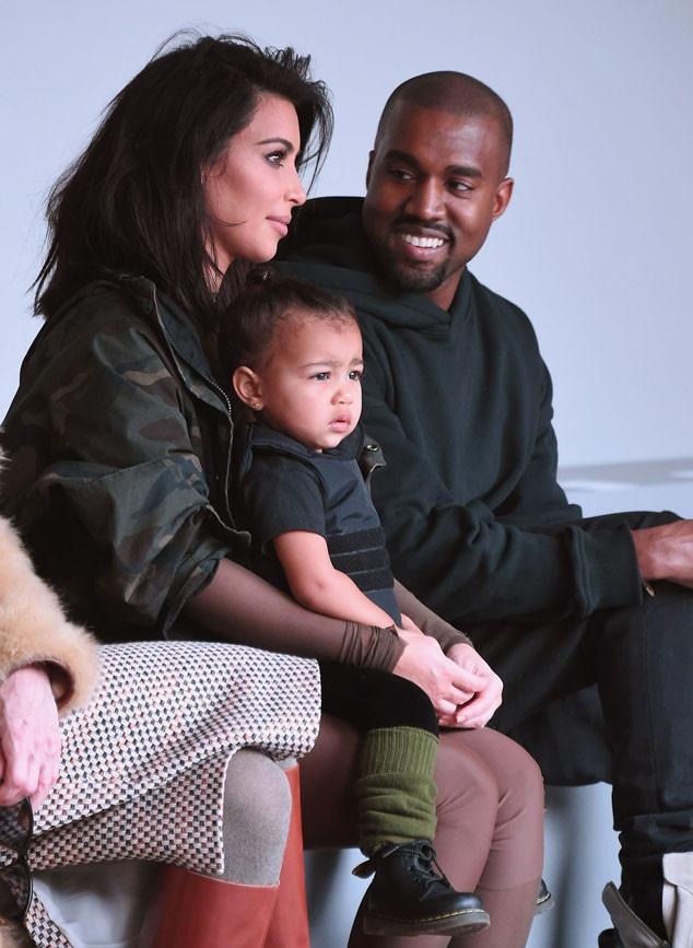 Kim Kardashian, North West, Kanye West, NYFW