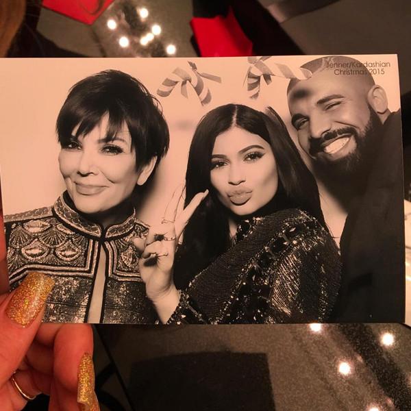 Kris Jenner, Kylie Jenner, Drake, Kardashian Christmas Eve 2015 Party