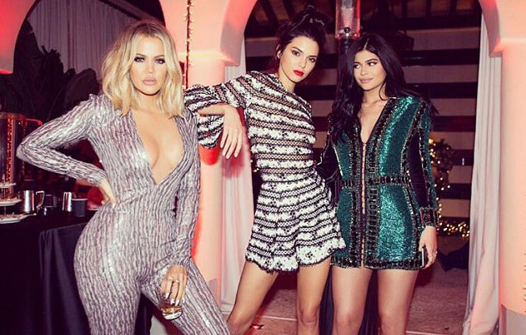 khloe kardashian kendall jenner kylie jenner christmas eve party 2015