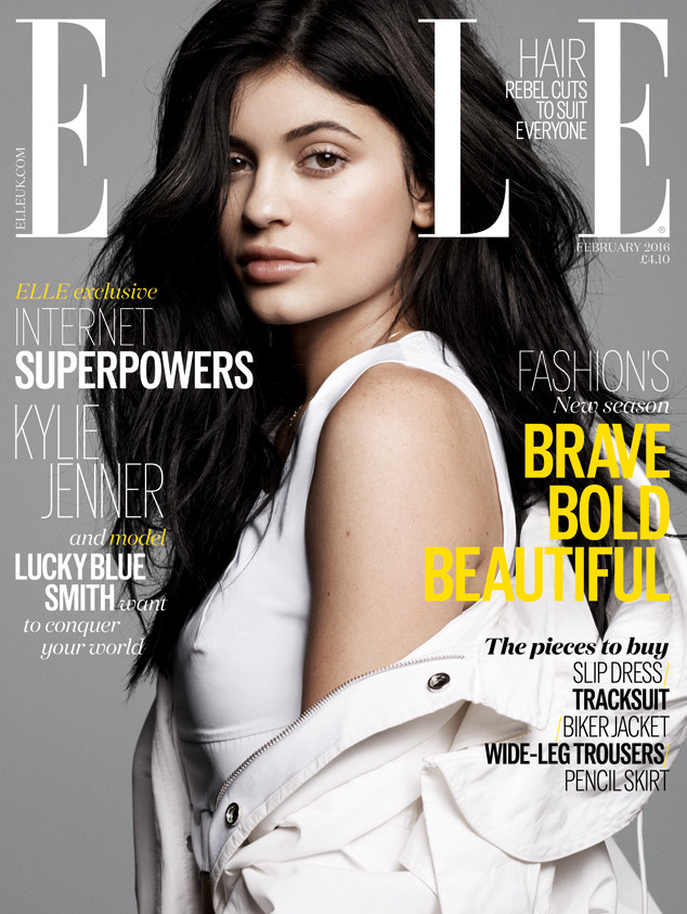 Kylie Jenner, Elle UK, EMBARGO until 4pm PST 12/29/15