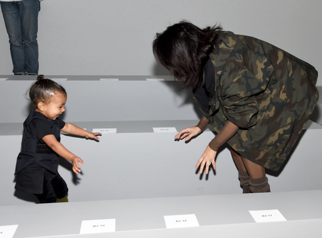 Kim Kardashian, North West, NYFW