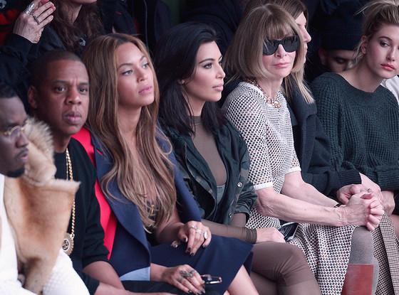 Sean 'Diddy' Combs, Jay-Z, Beyonce, Kim Kardashian, Anna Wintour, Hailey Baldwin, NYFW