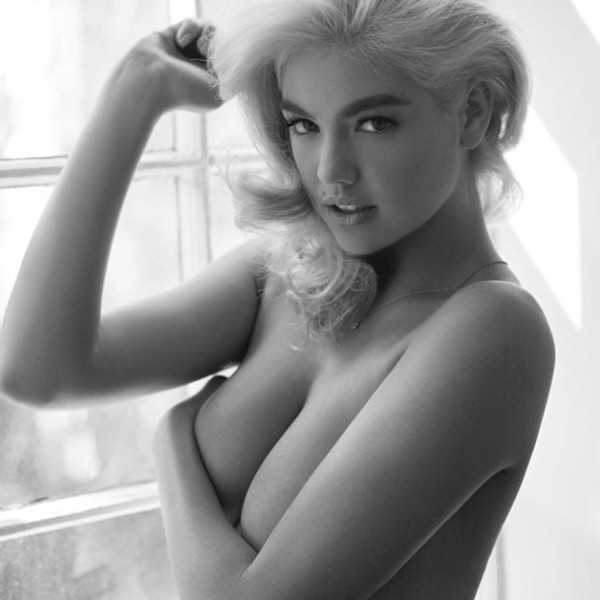 Kate Upton Poses Topless Channels Marilyn Monroe See The