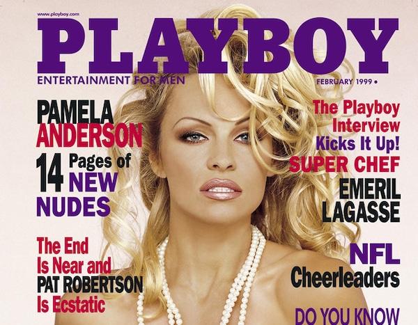 Fvrier 1999 From Les Couvertures Playboy De Pamela Anderson  E News France-3656