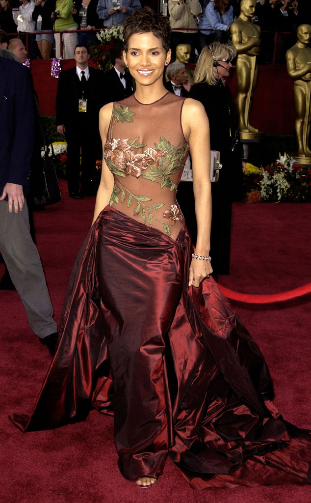 Halle Berry, Oscars, Dresses, 2002
