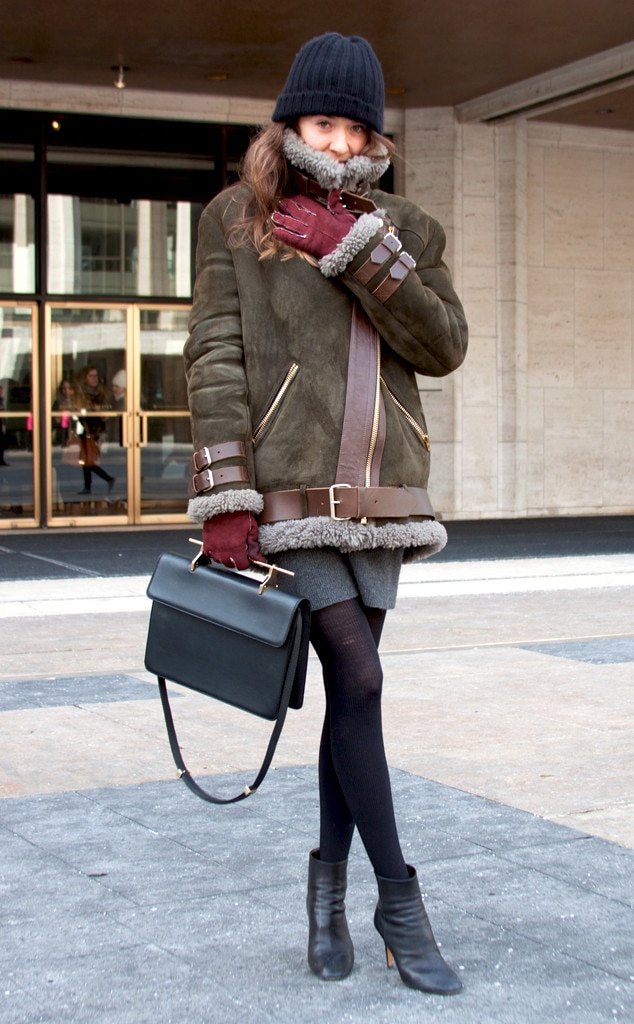 Gabriella Campagna From Street Style At New York Fashion Week Fall 2015 E News