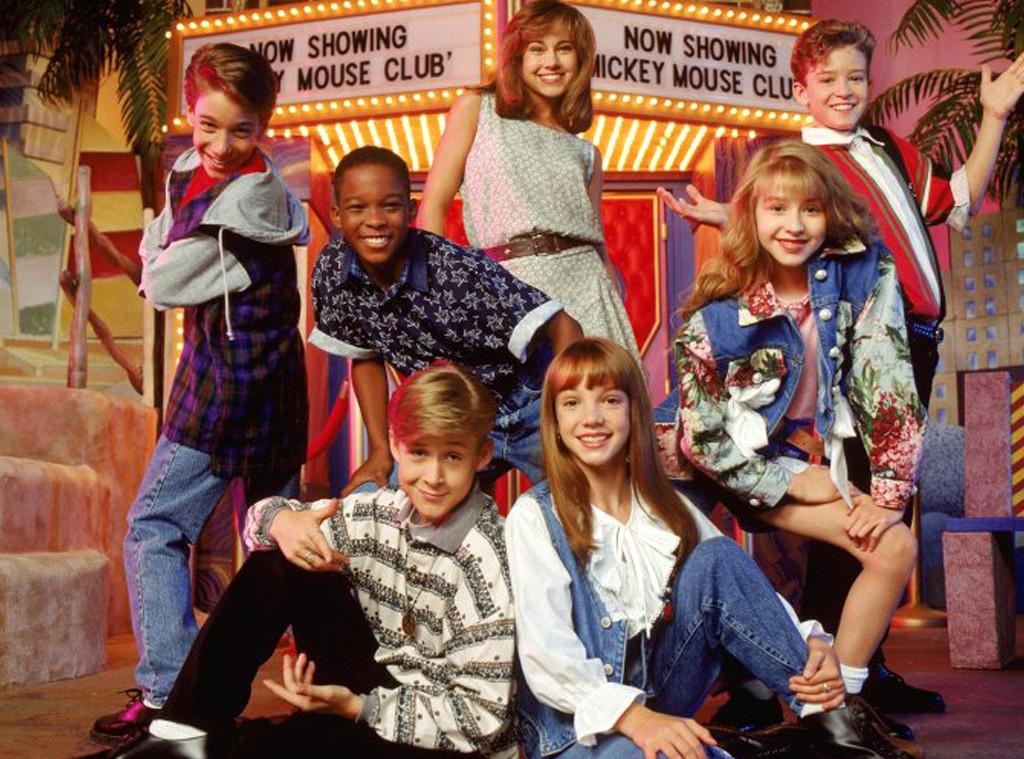 Britney Spears, Ryan Gosling, Christina Aguilera, Justin Timberlake, Mickey Mouse Club