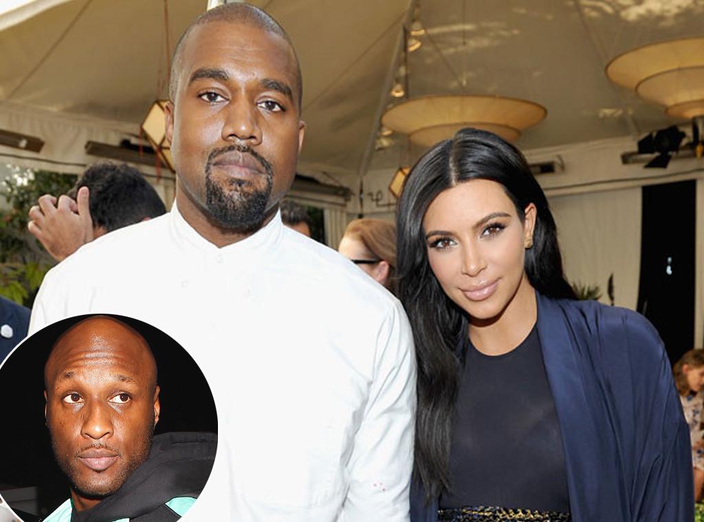 Kim Kardashian, Kanye West, Lamar Odom