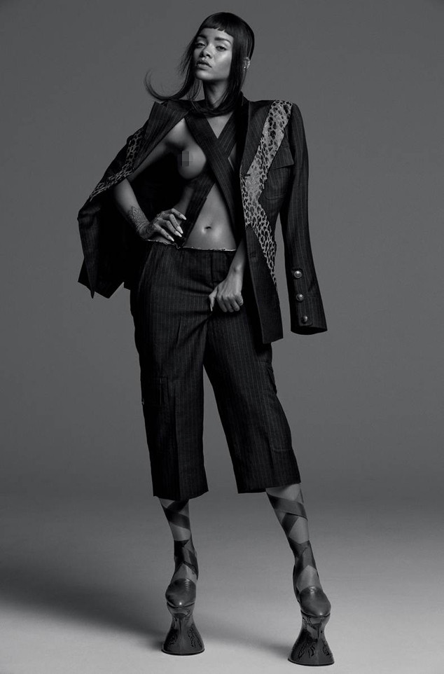 Rihanna reveals tan lines as she poses topless for Vogue Brazil photoshoot on the beach   Daily