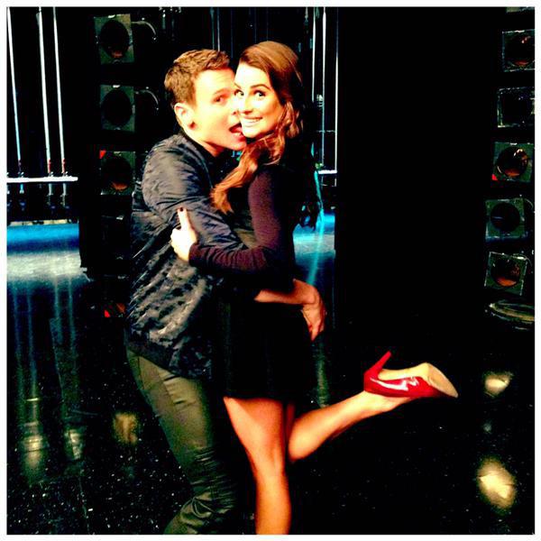 Jonathan Groff, Lea Michele Instagram