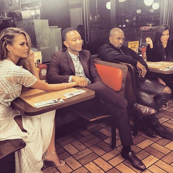 Chrissy Teigen, John Legend, Kim Kardashian & Kanye West
