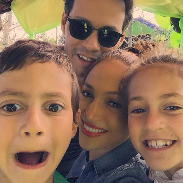 J Lo And Marc Anthony Reunite For Their Twins Birthday Party E Online