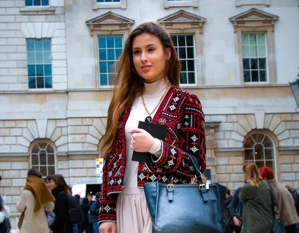 Ana Picioroaga From Street Style At London Fashion Week