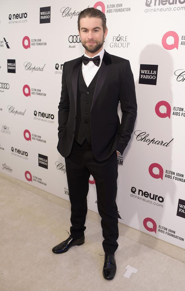Chace Crawford, Elton John Oscar Party 2015