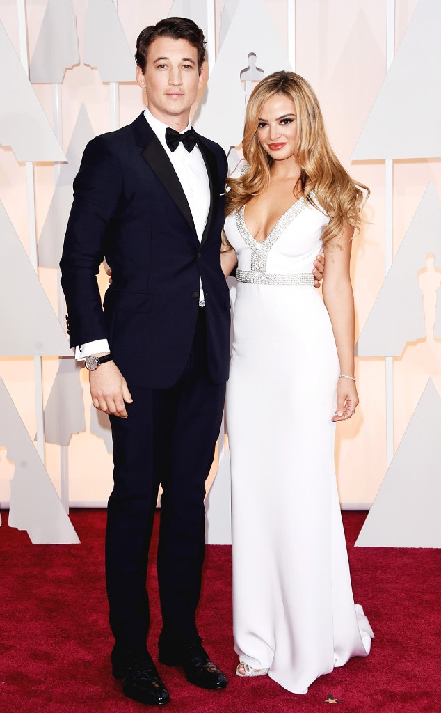 Miles Teller, Keleigh Sperry, 2015 Academy Awards, Couples
