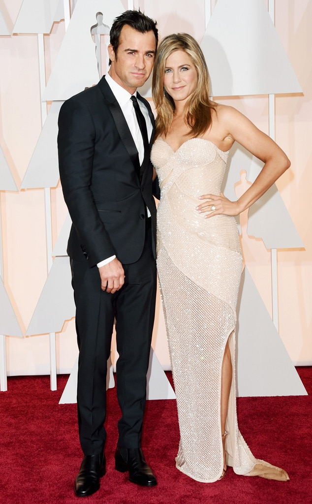 Justin Theroux, Jennifer Aniston, 2015 Academy Awards, Oscars Couples