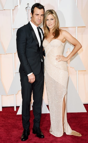 Justin Theroux, Jennifer Aniston, 2015 Academy Awards, Oscars Couples