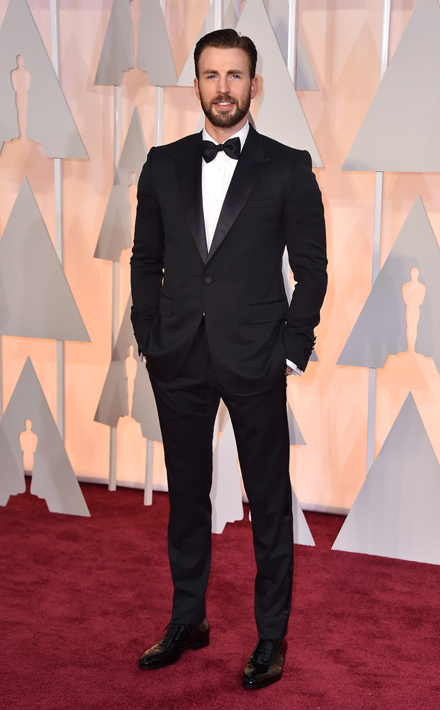 Chris Evans' Oscars Date Was His ''Best Friend,'' Not His Girlfriend! Watch the Funny Video Clip