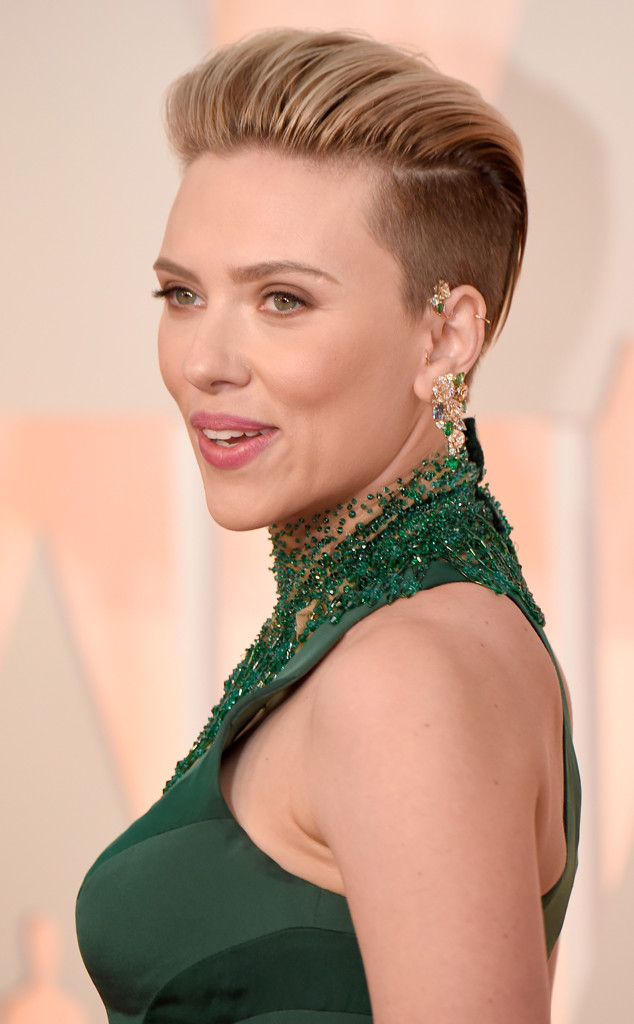 2015 Academy Awards, Scarlett Johansson, Hair, Beauty