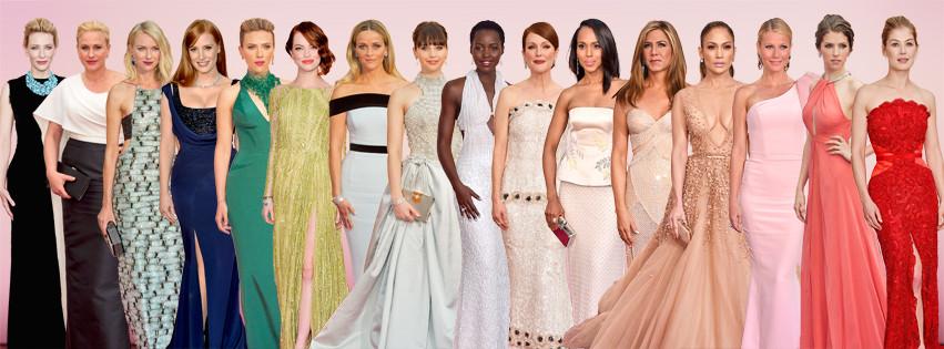 Facebook - 2015 Academy Awards, Oscar Dresses
