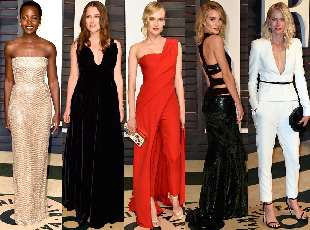 Lupita Nyong'o, Keira Knightley, Diane Kruger, Rosie Huntington-Whiteley, Vanity Fair Oscar Party