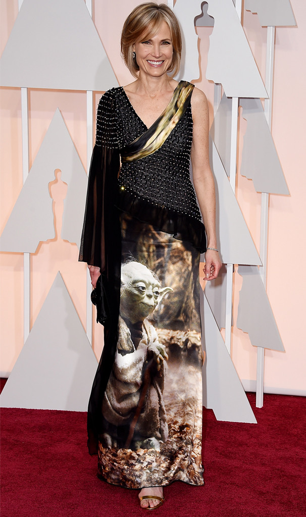 Willow Bay, 2015 Academy Awards, Yoda Dress