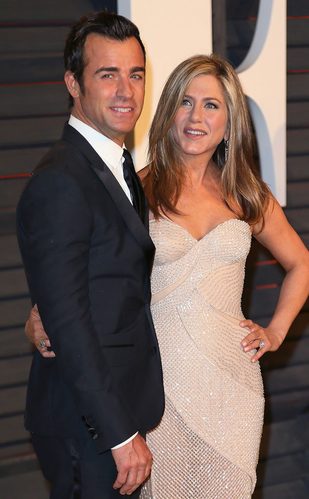 Justin Theroux, Jennifer Aniston, Vanity Fair Oscar Party