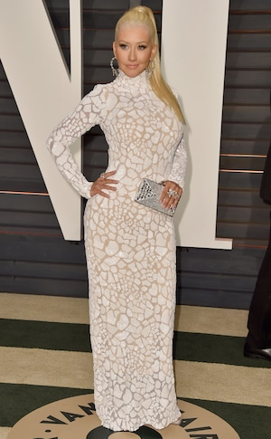 Christina Aguilera, Vanity Fair Oscar Party
