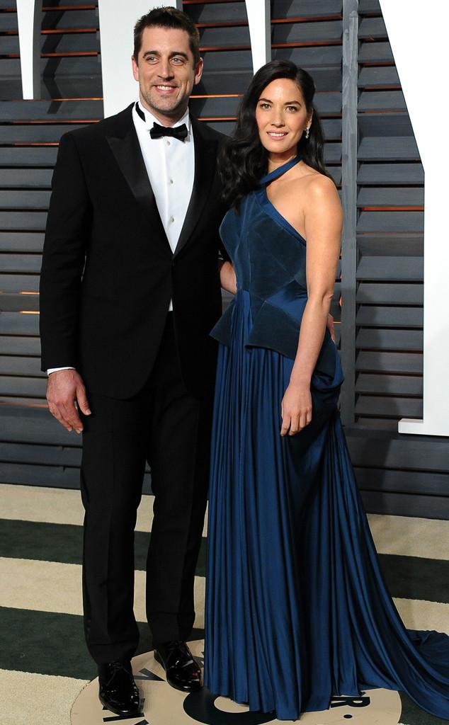 Aaron Rodgers, Olivia Munn, Vanity Fair Oscar Party