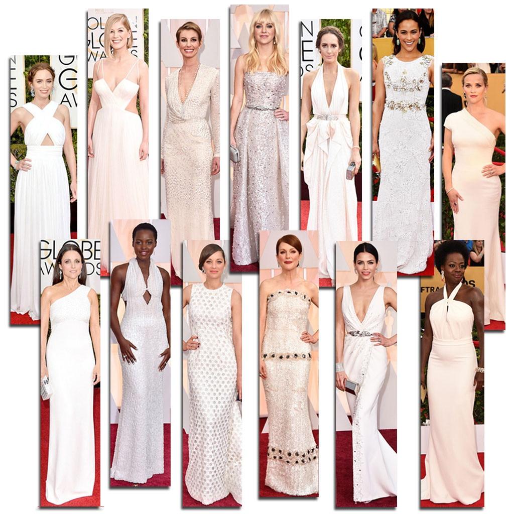 Award Show White Dresses