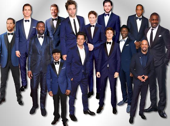 Award Show Blue Suits