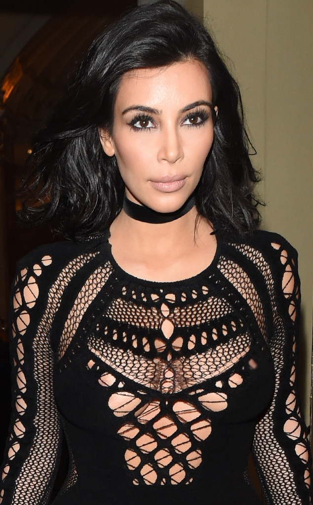 Lacy Lady -  The  Keeping Up With the Kardashians  star rocks some lace in this little black dress.