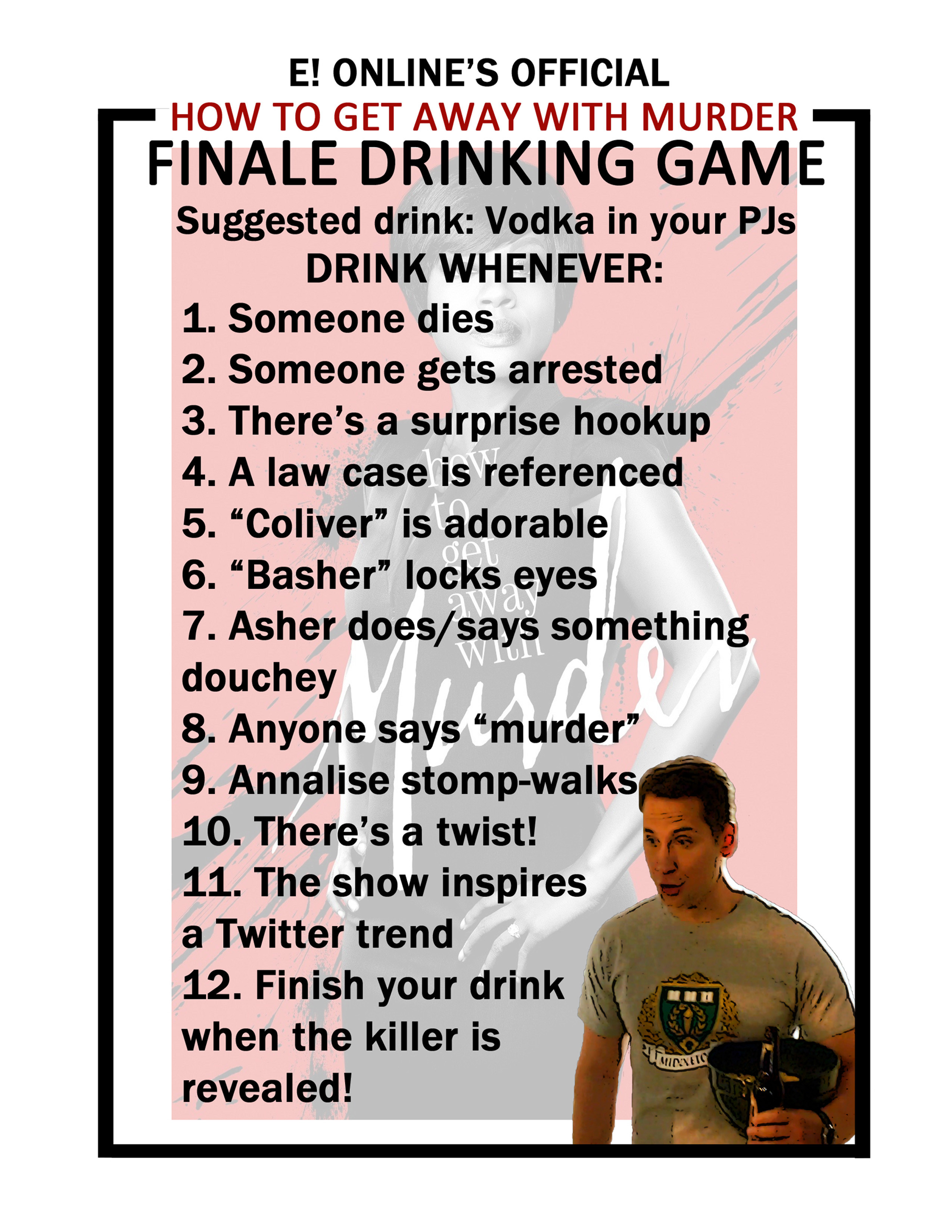 How To Get Away With Murder, Drinking Game, FOR PRINT