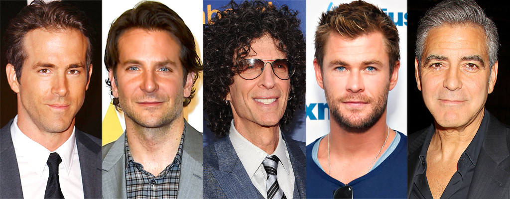 Bradley Cooper, Chris Hemsworth, Howard Stern, Ryan Reynolds, George Clooney, Hair