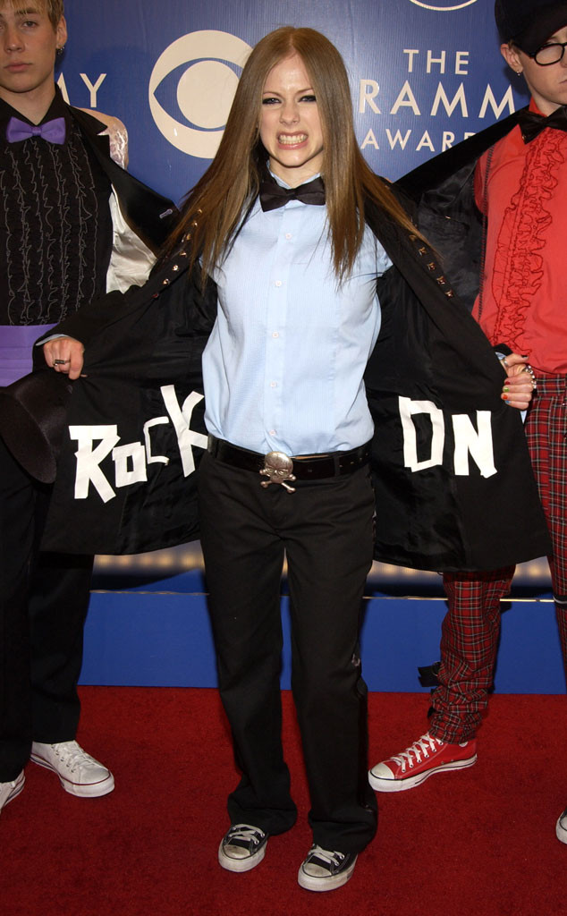 Avril Lavigne, Early 2000s Fashion, Grammys