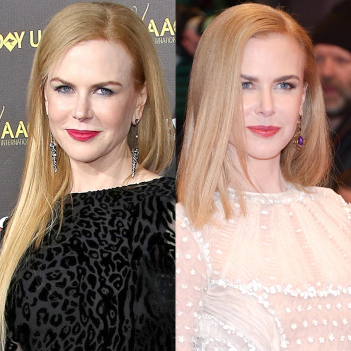 Nicole Kidman Cuts Off A Foot Of Hair See Her Shorter Do E Online