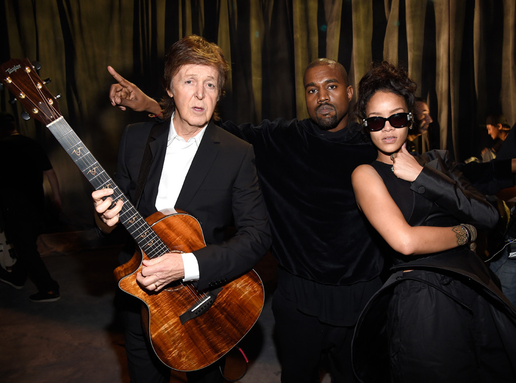 Paul McCartney, Kanye West, Rihanna, Grammy Awards, Candids