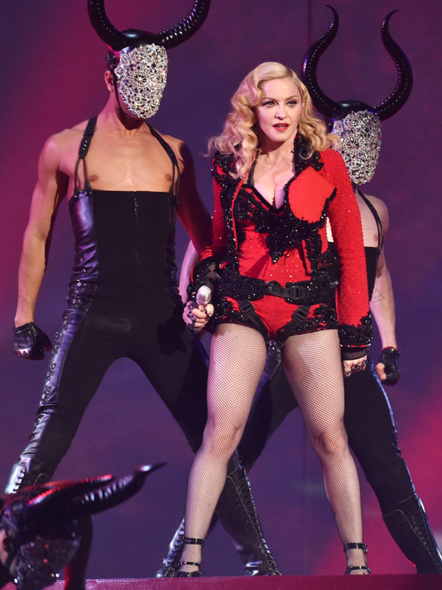 Madonna 56 Slays The Grammy Awards Performing Living For Love E Online