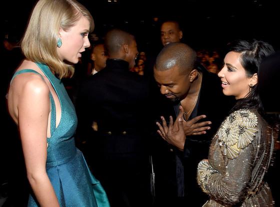 Kanye West, Taylor Swift, Kim Kardashian, Grammy Awards, Candids