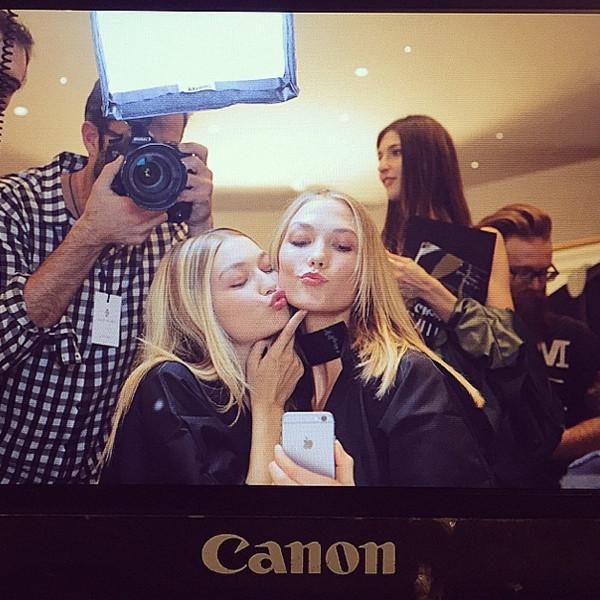 Gigi Hadid, Karlie Kloss, Instagram