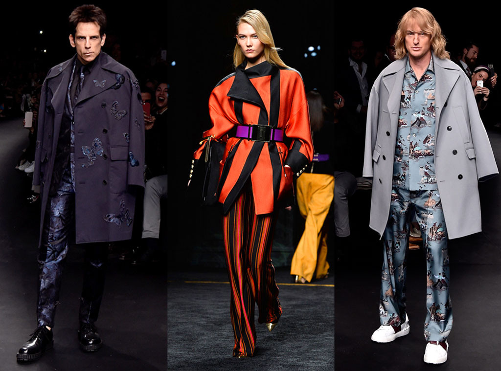 Ben Stiller, Karlie Kloss, Owen Wilson, Paris Fashion Week