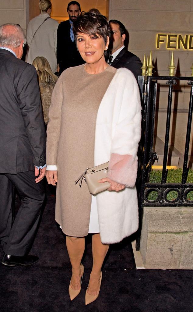 Kris Jenner, Paris Fashion Week, Fendi