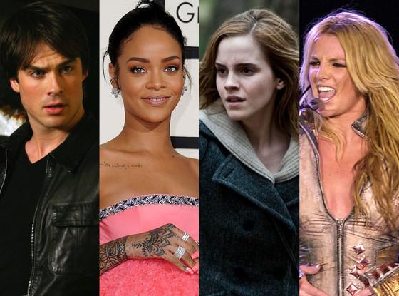Fandom, Ian Somerhalder, Rihanna, Emma Watson, Britney Spears