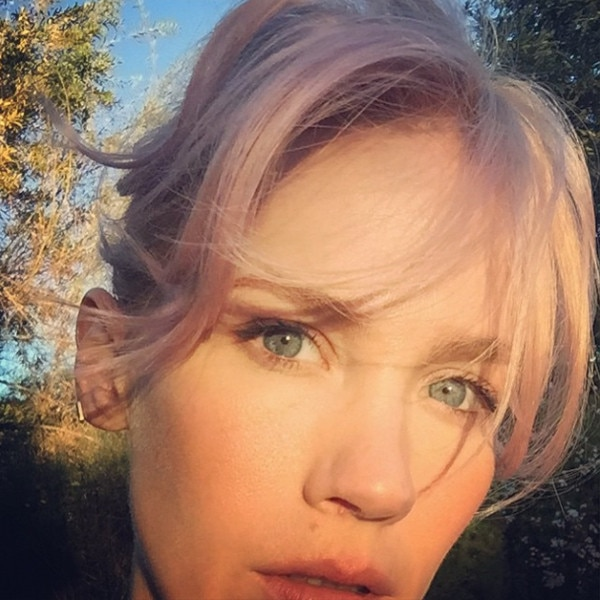 January Jones, Hair, Instagram