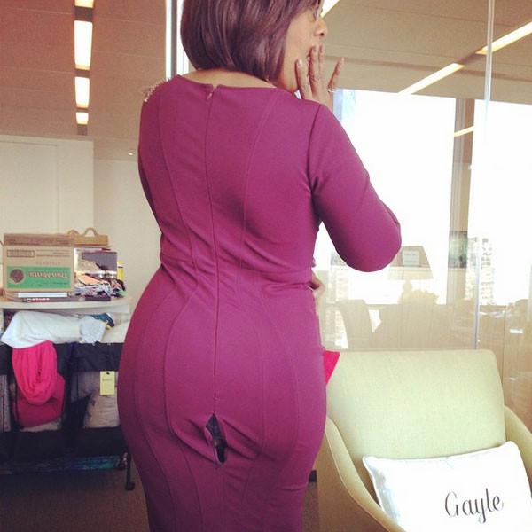Gayle King, Wardrobe Malfunction, Instagram