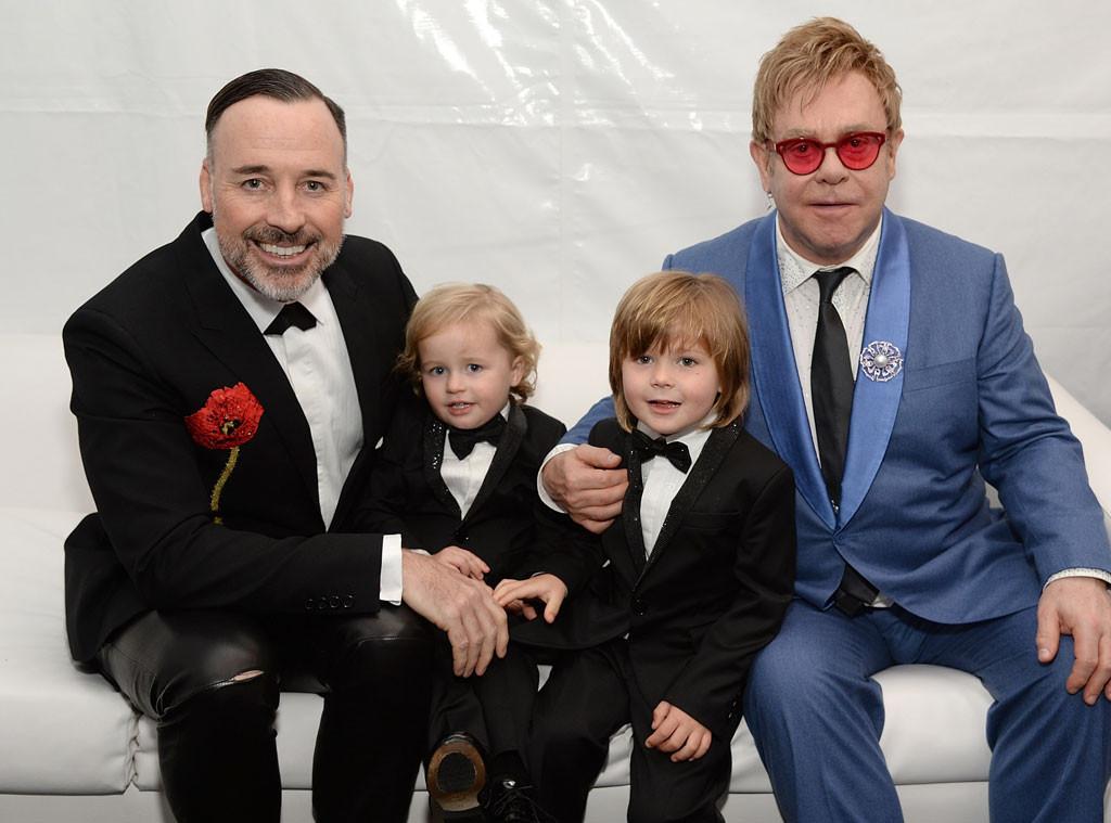 David Furnish, Elijah Furnish-John, Zachary Furnish-John, Sir Elton John
